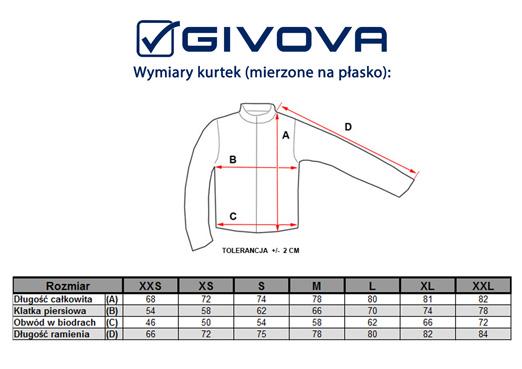 Tabela rozmiarów kurtek